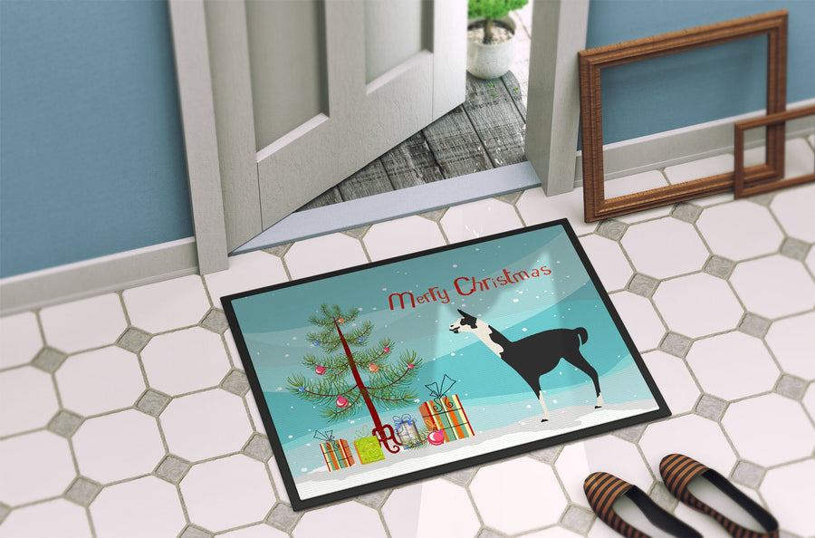Buy this Llama Q' Ara Christmas Indoor or Outdoor Mat 24x36 BB9285JMAT