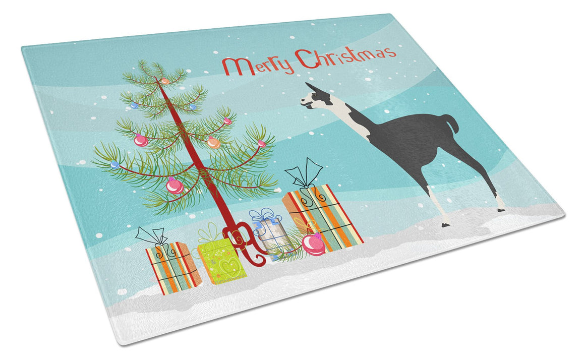 Buy this Llama Q' Ara Christmas Glass Cutting Board Large BB9285LCB