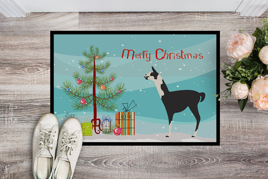 Buy this Llama Q' Ara Christmas Indoor or Outdoor Mat 18x27 BB9285MAT