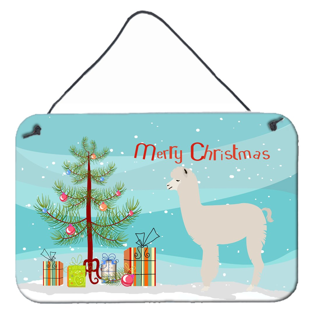 Buy this Alpaca Christmas Wall or Door Hanging Prints BB9286DS812
