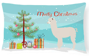 Buy this Alpaca Christmas Canvas Fabric Decorative Pillow BB9286PW1216
