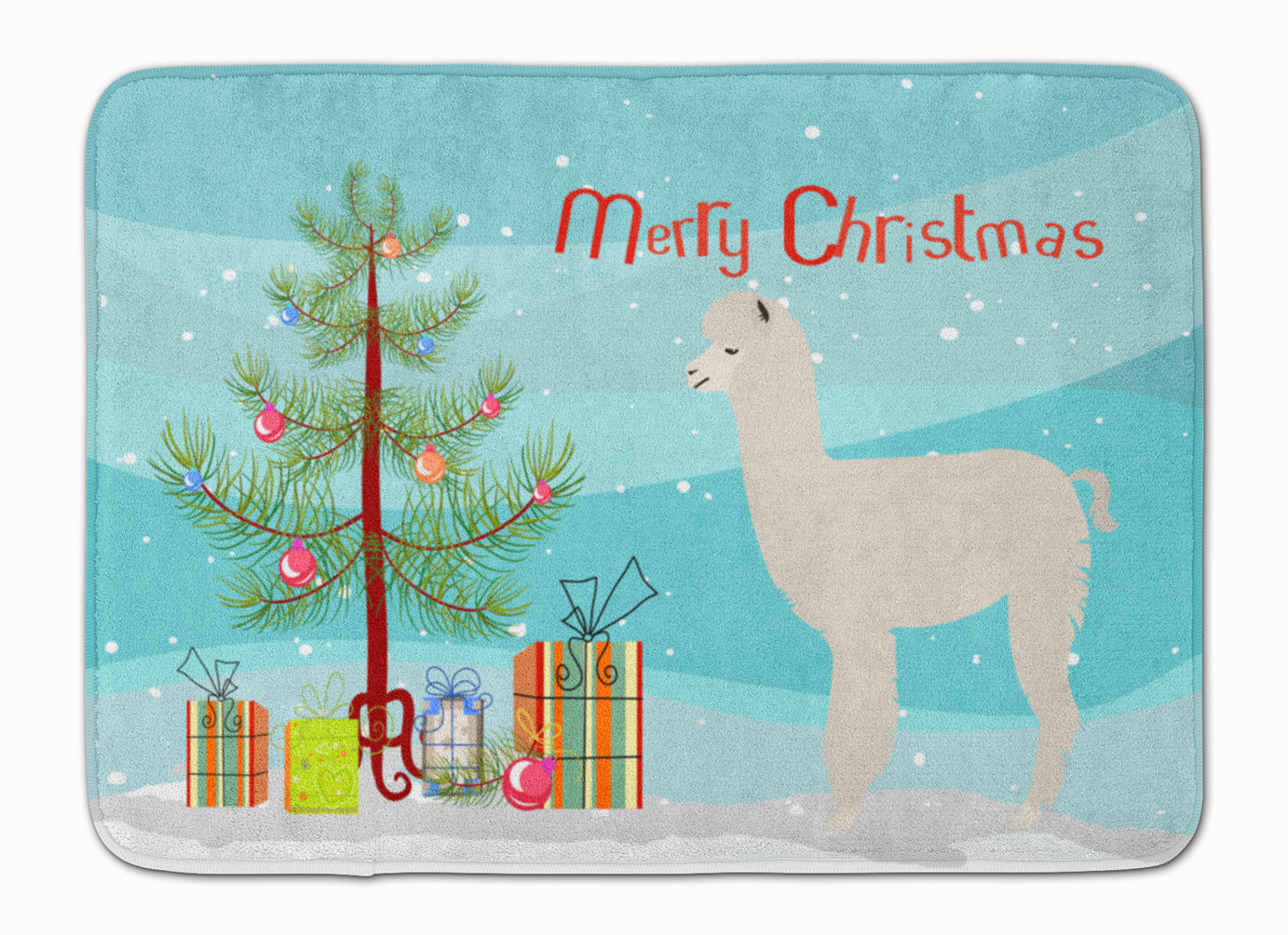 Buy this Alpaca Christmas Machine Washable Memory Foam Mat BB9286RUG
