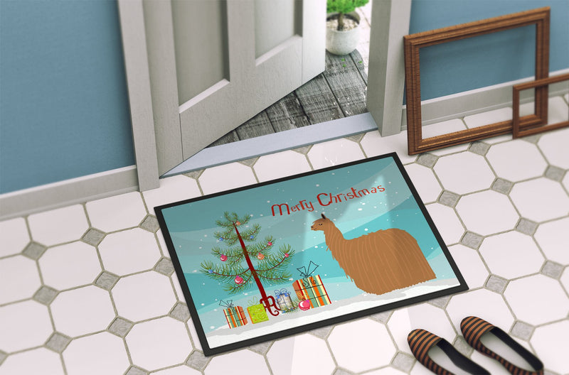 Buy this Alpaca Suri Christmas Indoor or Outdoor Mat 24x36 BB9287JMAT