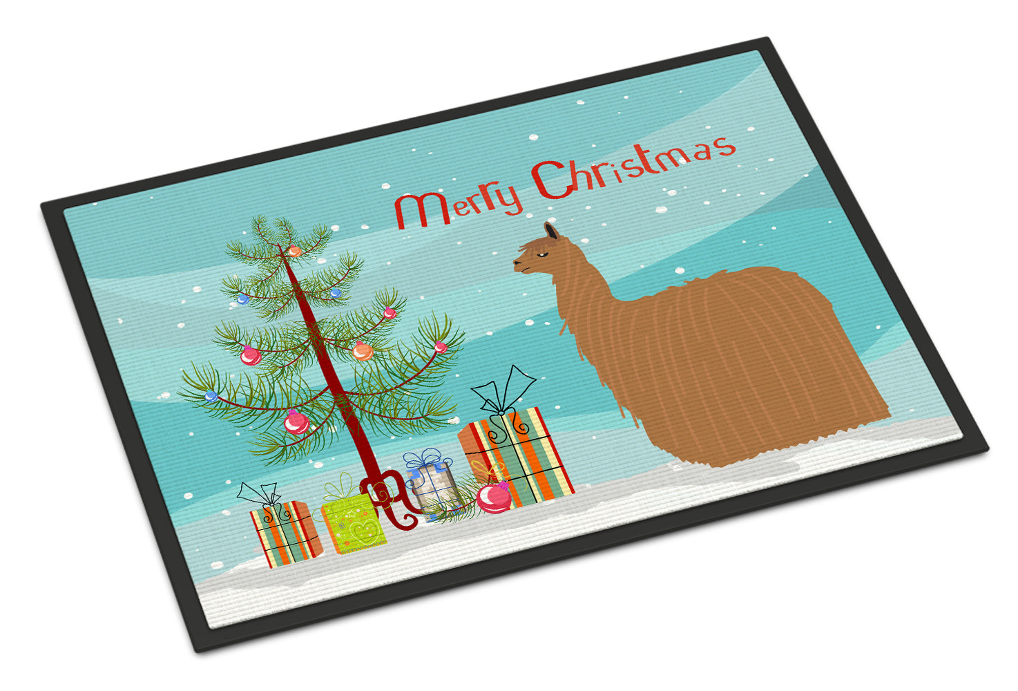 Buy this Alpaca Suri Christmas Indoor or Outdoor Mat 18x27 BB9287MAT
