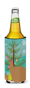 Alpaca Suri Christmas Michelob Ultra Hugger for slim cans BB9287MUK by Caroline's Treasures