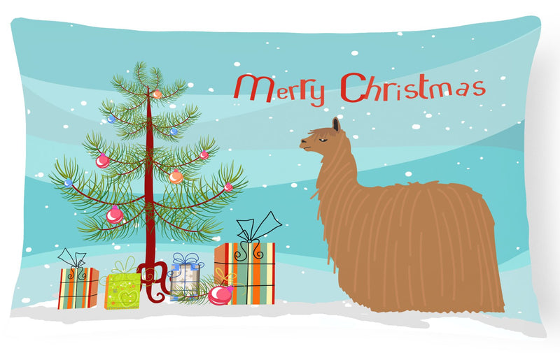 Buy this Alpaca Suri Christmas Canvas Fabric Decorative Pillow BB9287PW1216