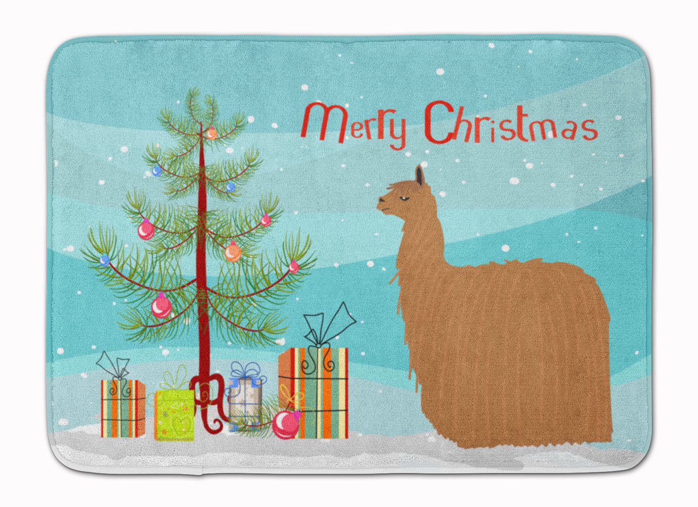 Buy this Alpaca Suri Christmas Machine Washable Memory Foam Mat BB9287RUG