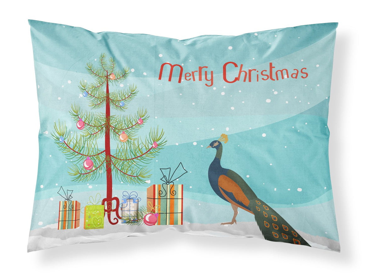 Buy this Indian Peacock Peafowl Christmas Fabric Standard Pillowcase BB9292PILLOWCASE
