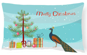 Buy this Indian Peacock Peafowl Christmas Canvas Fabric Decorative Pillow BB9292PW1216