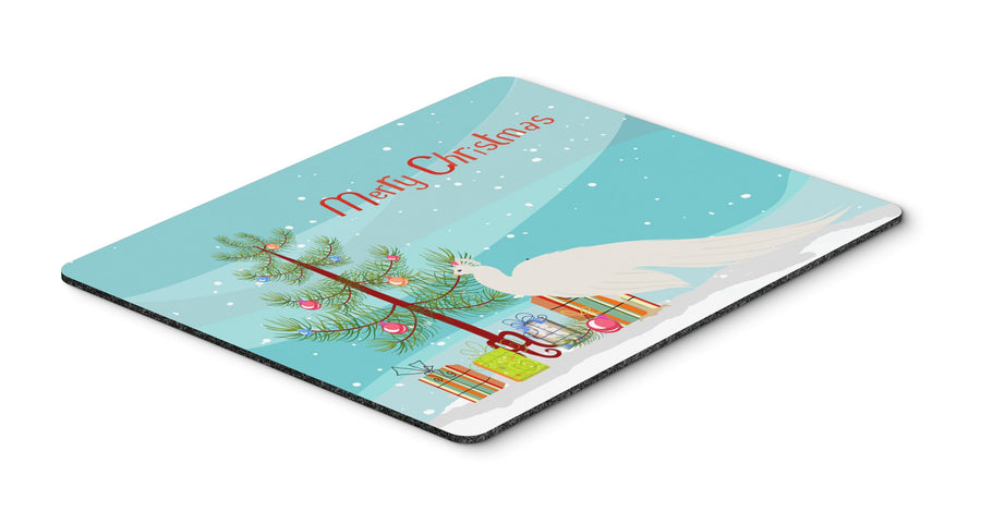 Buy this White Peacock Peafowl Christmas Mouse Pad, Hot Pad or Trivet BB9293MP