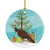 Buy this Indian Peahen Peafowl Christmas Ceramic Ornament BB9294CO1