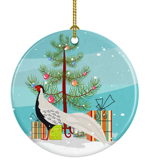 Buy this Silver Pheasant Christmas Ceramic Ornament BB9296CO1