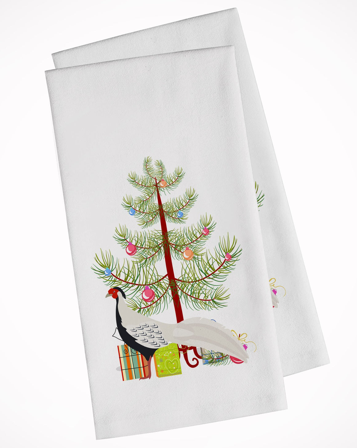 Buy this Silver Pheasant Christmas White Kitchen Towel Set of 2 BB9296WTKT