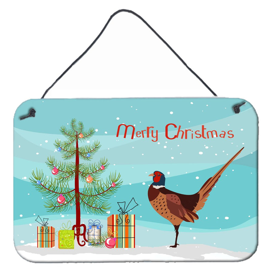 Buy this Ring-necked Common Pheasant Christmas Wall or Door Hanging Prints BB9297DS812