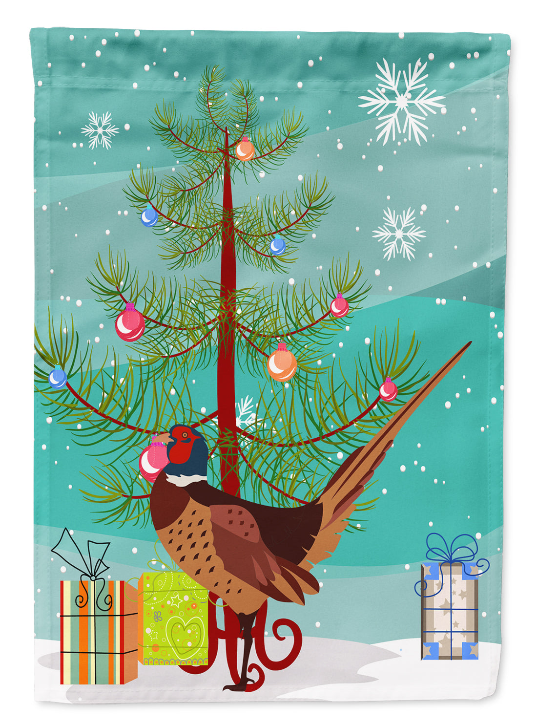Buy this Ring-necked Common Pheasant Christmas Flag Garden Size BB9297GF