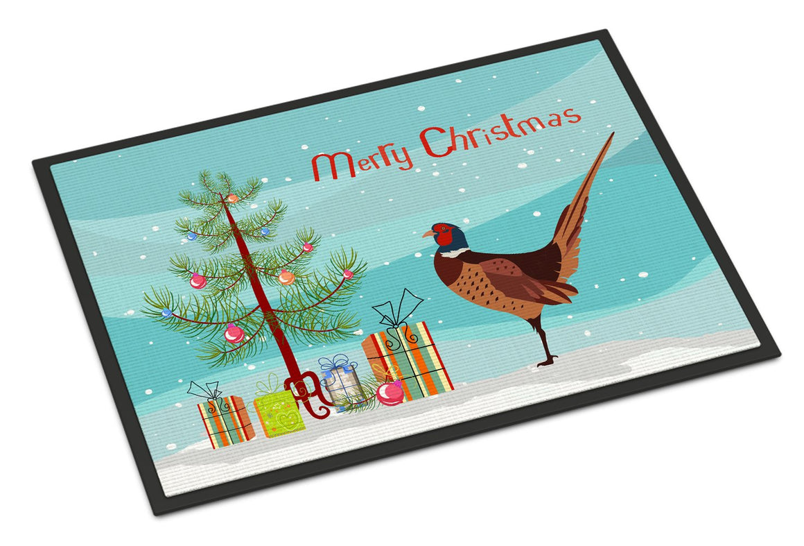 Buy this Ring-necked Common Pheasant Christmas Indoor or Outdoor Mat 24x36 BB9297JMAT