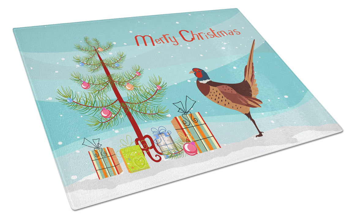 Buy this Ring-necked Common Pheasant Christmas Glass Cutting Board Large BB9297LCB