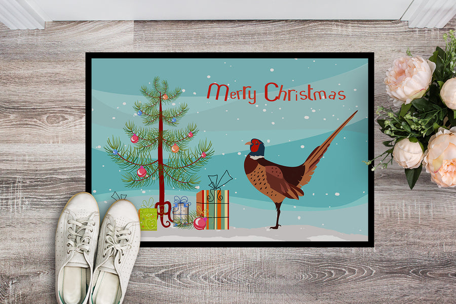 Buy this Ring-necked Common Pheasant Christmas Indoor or Outdoor Mat 18x27 BB9297MAT