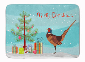 Buy this Ring-necked Common Pheasant Christmas Machine Washable Memory Foam Mat BB9297RUG