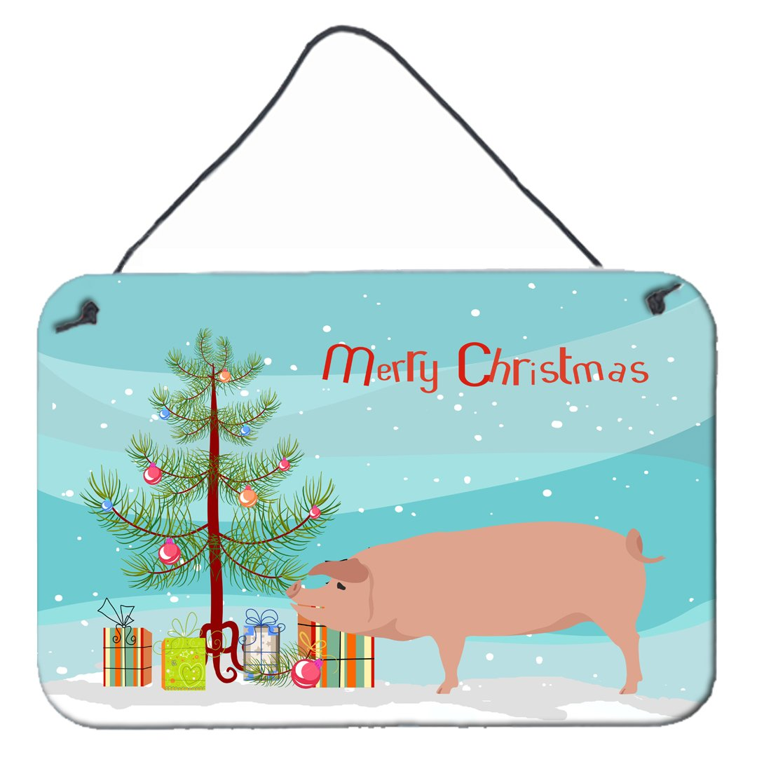 American Landrace Pig Christmas Wall or Door Hanging Prints BB9299DS812 by Caroline's Treasures