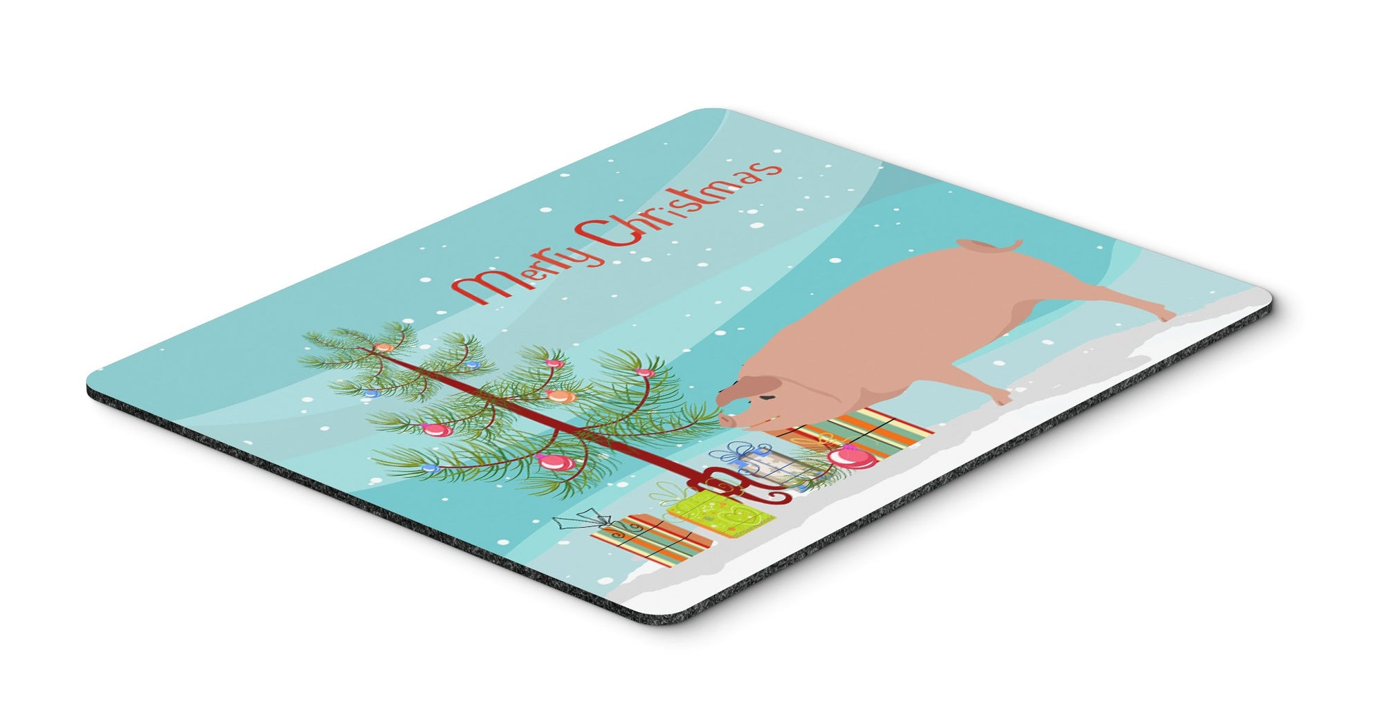 American Landrace Pig Christmas Mouse Pad, Hot Pad or Trivet BB9299MP by Caroline's Treasures
