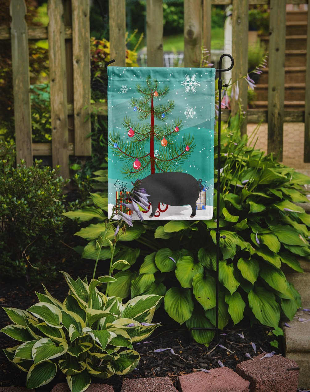 Berkshire Pig Christmas Flag Garden Size BB9300GF by Caroline's Treasures