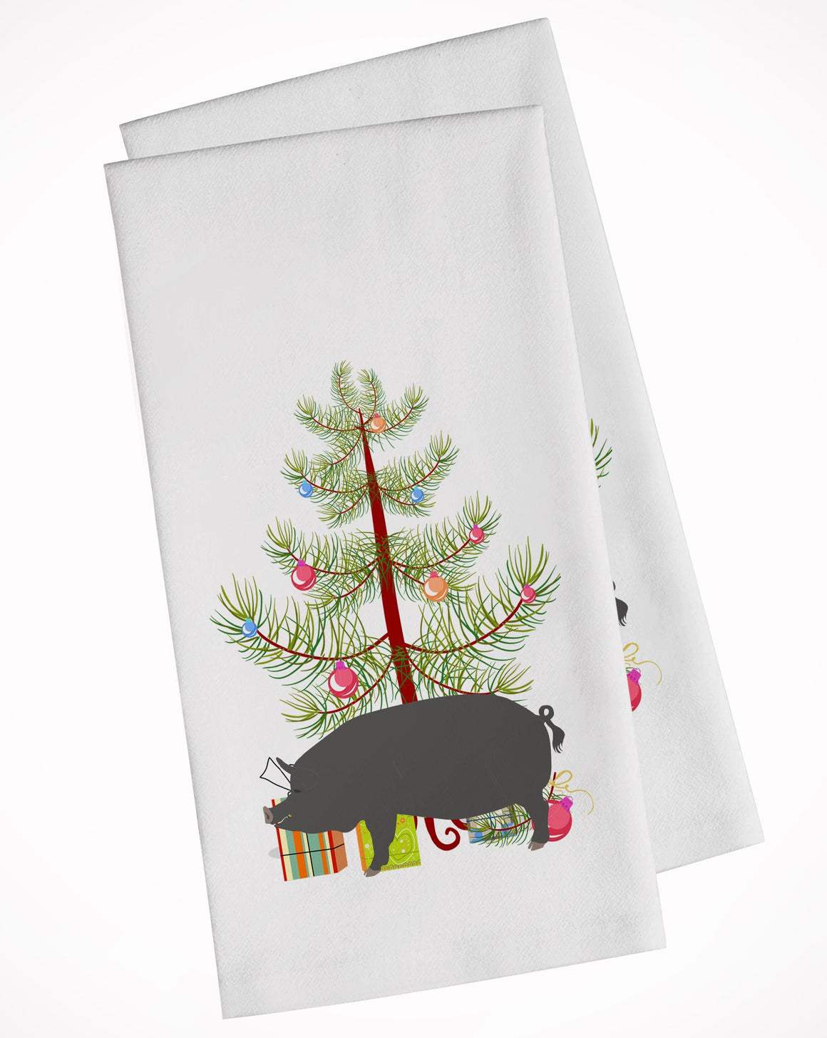 Buy this Berkshire Pig Christmas White Kitchen Towel Set of 2 BB9300WTKT