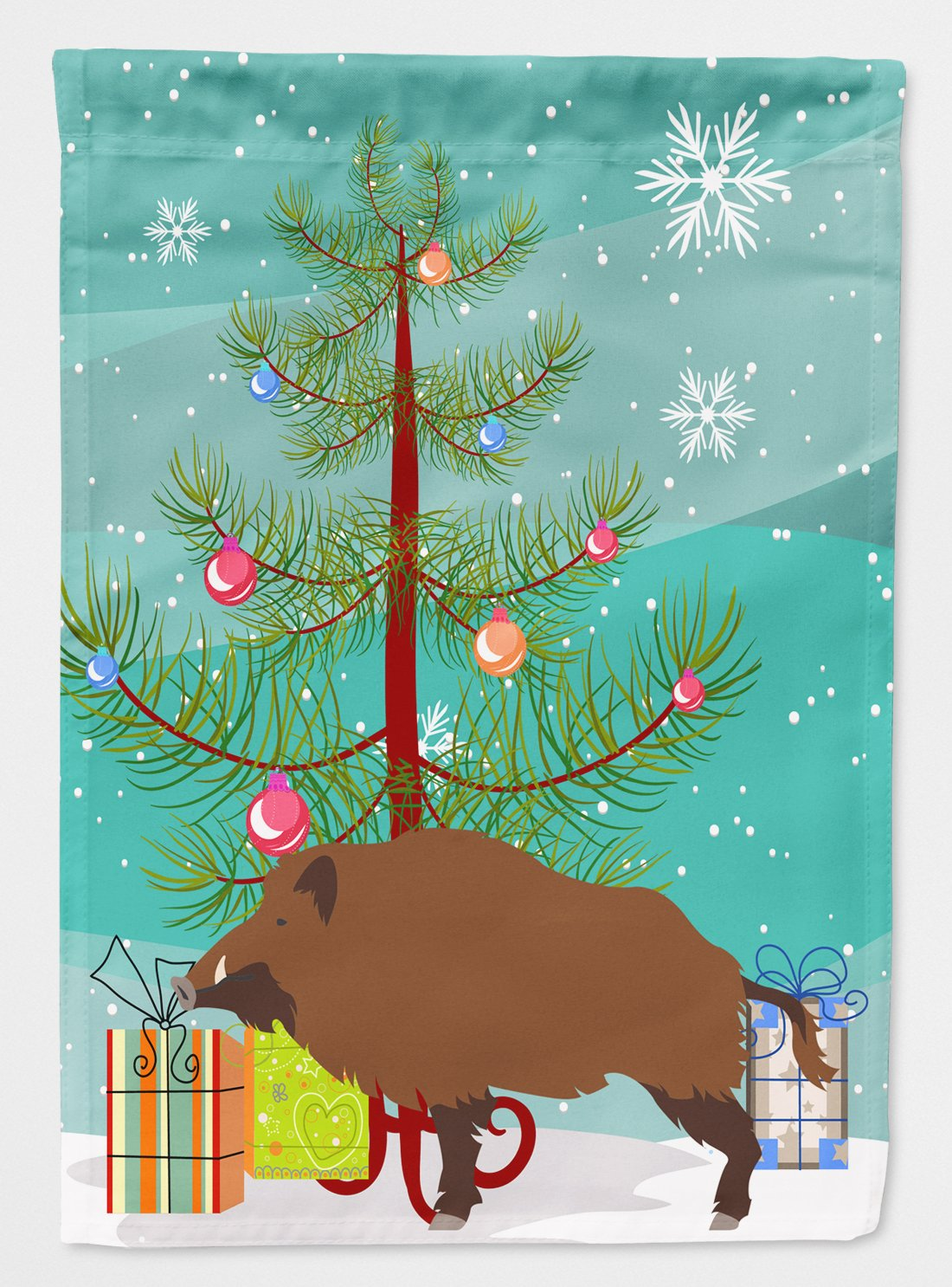 Buy this Wild Boar Pig Christmas Flag Garden Size BB9303GF