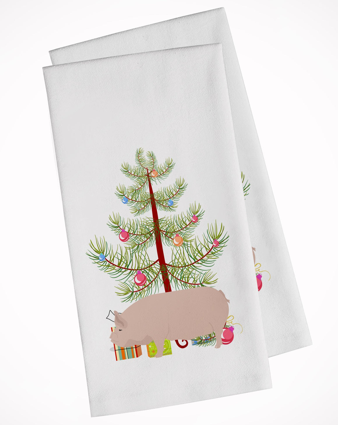 Buy this Welsh Pig Christmas White Kitchen Towel Set of 2 BB9304WTKT
