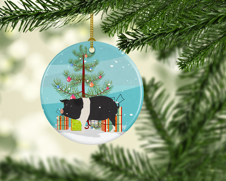 Buy this Hampshire Pig Christmas Ceramic Ornament BB9306CO1