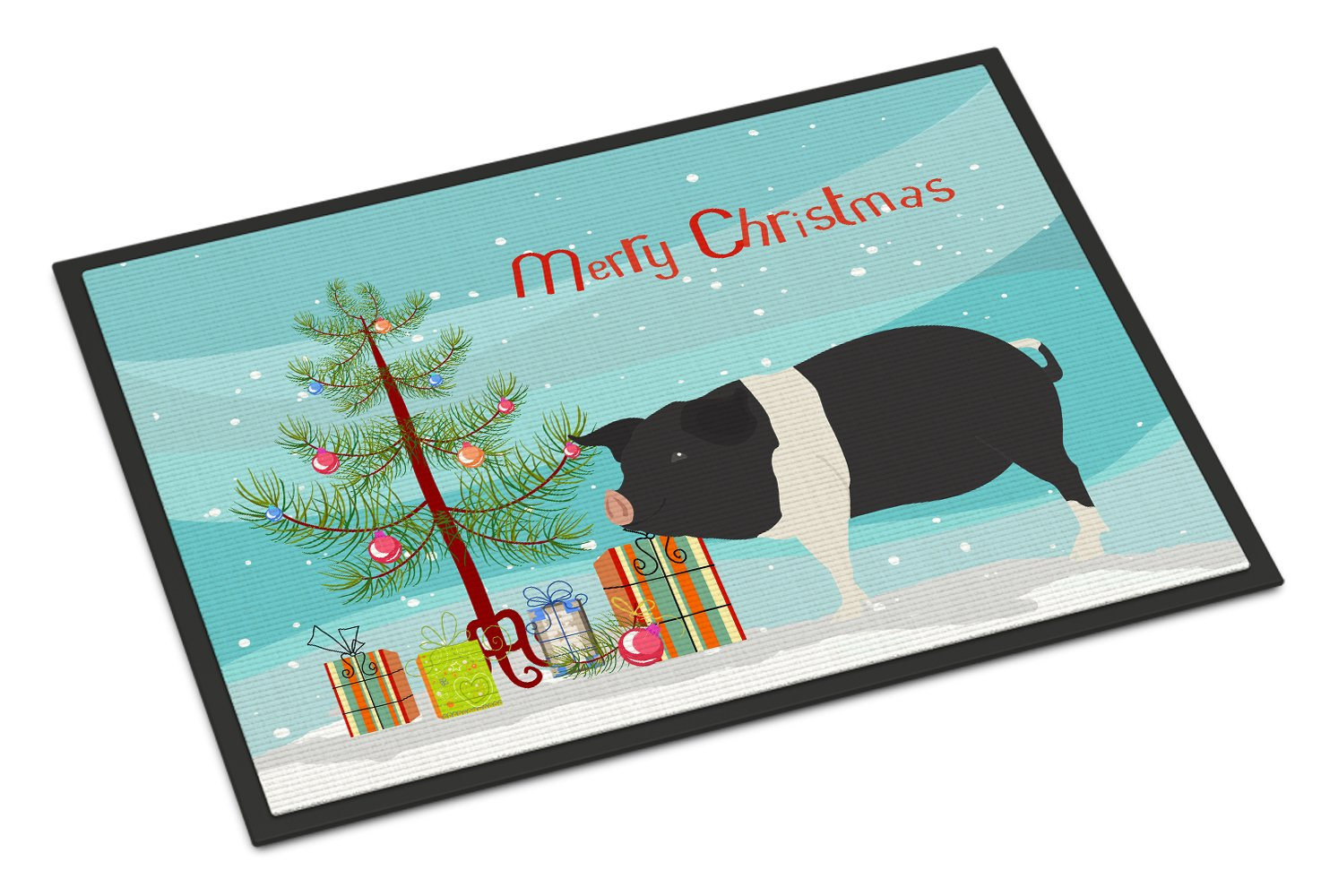 Hampshire Pig Christmas Indoor or Outdoor Mat 24x36 BB9306JMAT by Caroline's Treasures