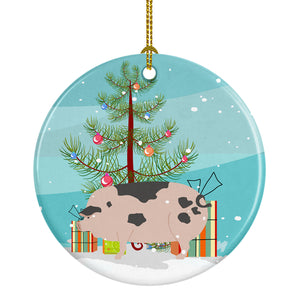Buy this Gloucester Old Spot Pig Christmas Ceramic Ornament BB9307CO1