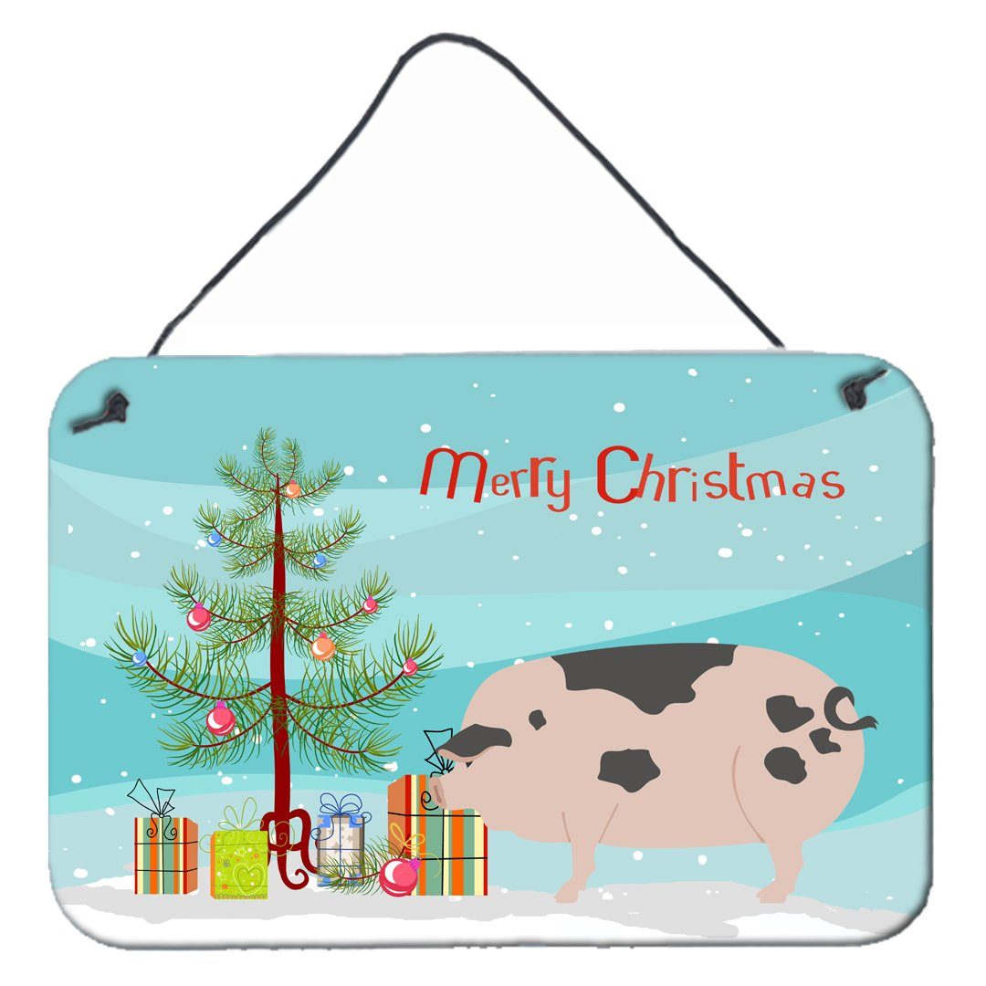 Gloucester Old Spot Pig Christmas Wall or Door Hanging Prints BB9307DS812 by Caroline's Treasures