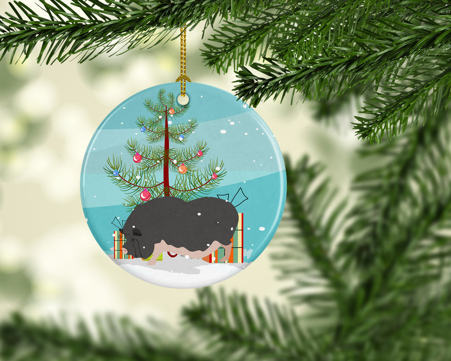 Buy this Vietnamese Pot-Bellied Pig Christmas Ceramic Ornament BB9308CO1