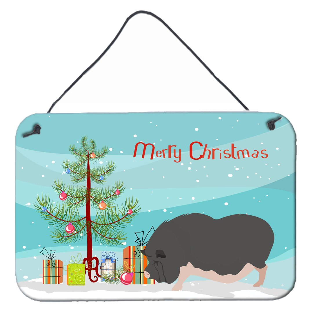 Vietnamese Pot-Bellied Pig Christmas Wall or Door Hanging Prints BB9308DS812 by Caroline's Treasures