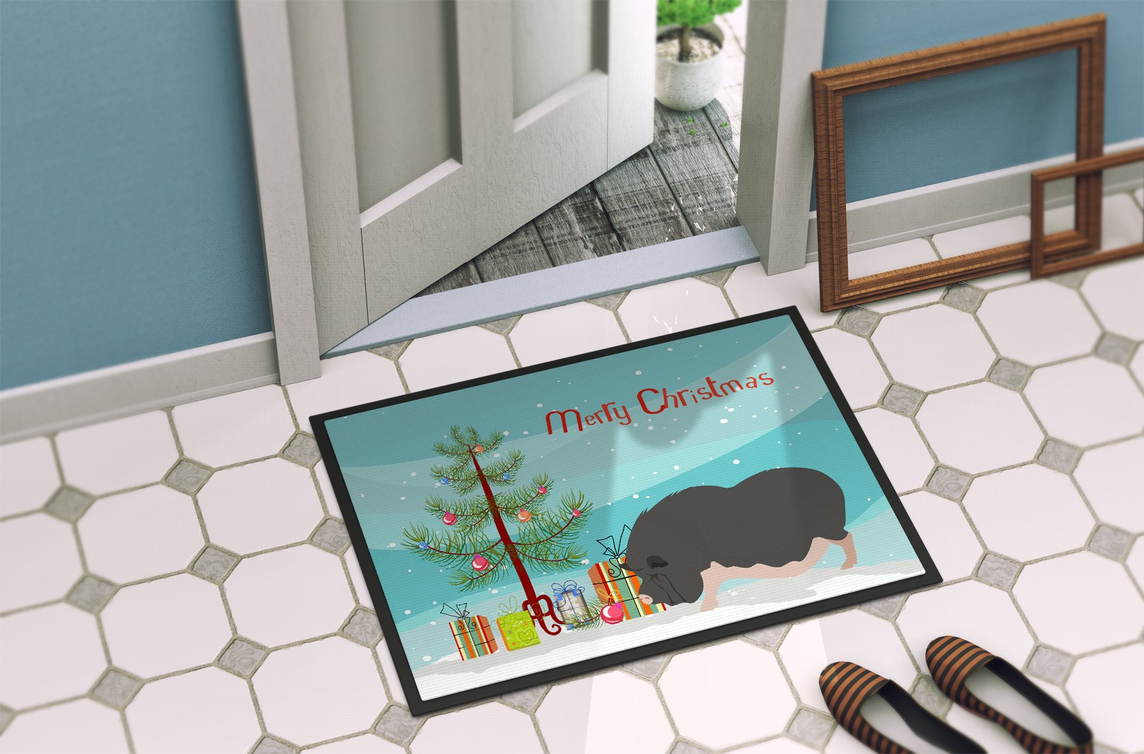 Vietnamese Pot-Bellied Pig Christmas Indoor or Outdoor Mat 24x36 BB9308JMAT by Caroline's Treasures