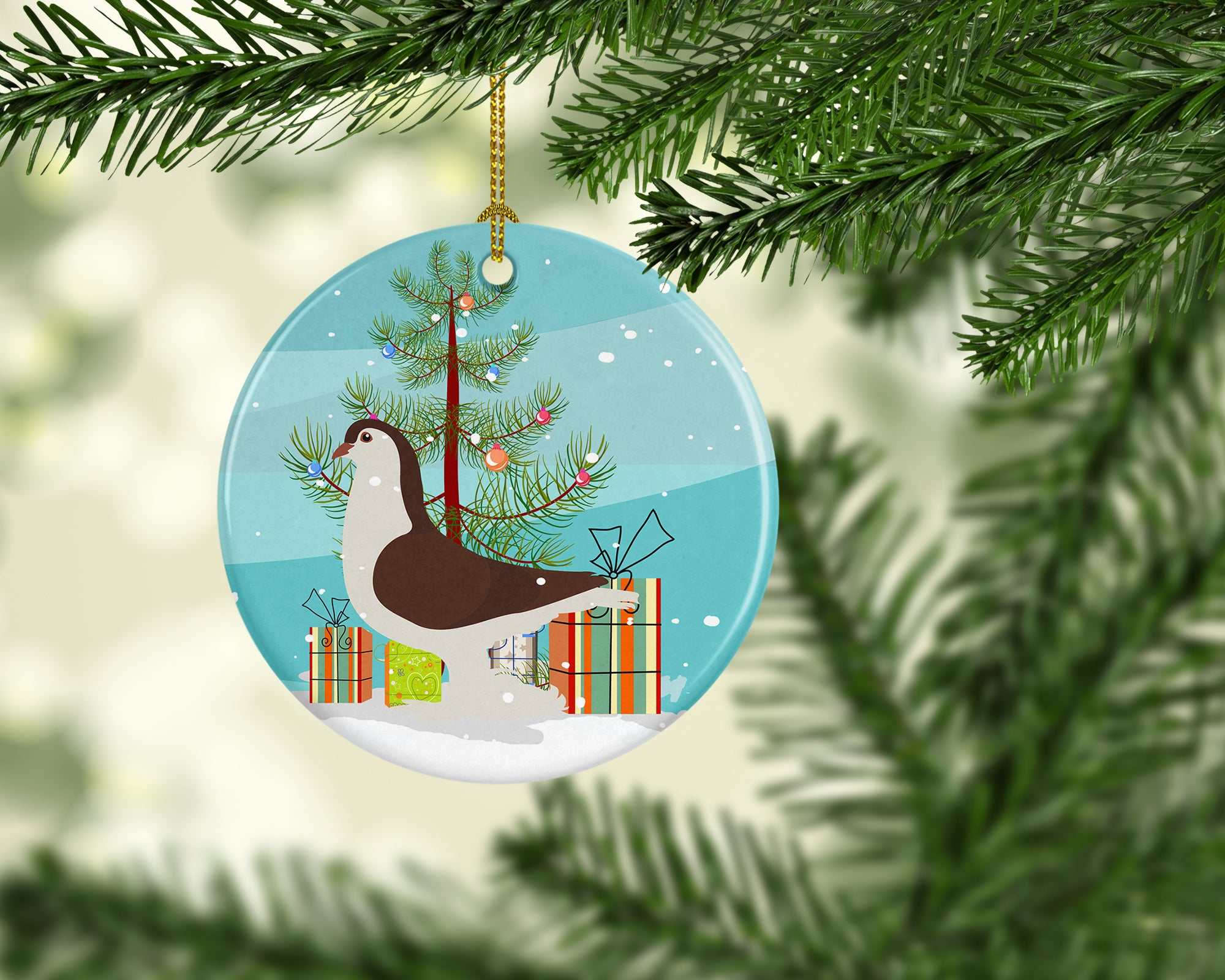 Large Pigeon Christmas Ceramic Ornament BB9310CO1 by Caroline's Treasures