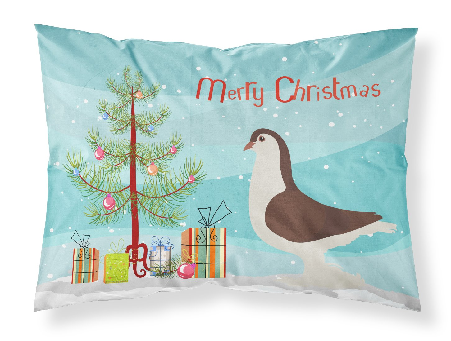 Large Pigeon Christmas Fabric Standard Pillowcase BB9310PILLOWCASE by Caroline's Treasures