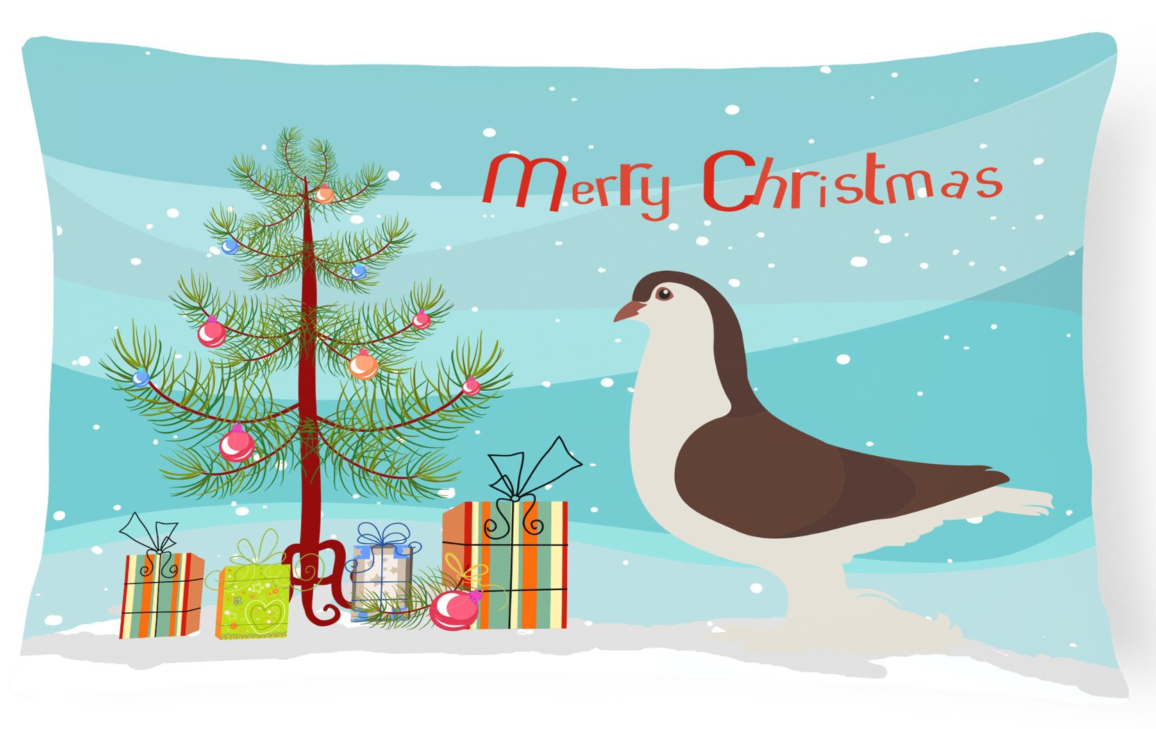 Buy this Large Pigeon Christmas Canvas Fabric Decorative Pillow BB9310PW1216