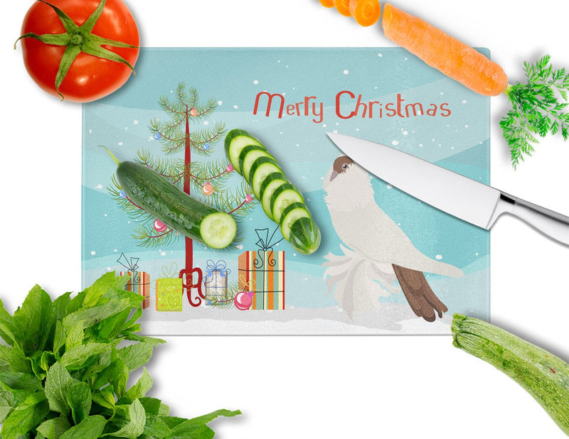 Buy this German Helmet Pigeon Christmas Glass Cutting Board Large BB9311LCB