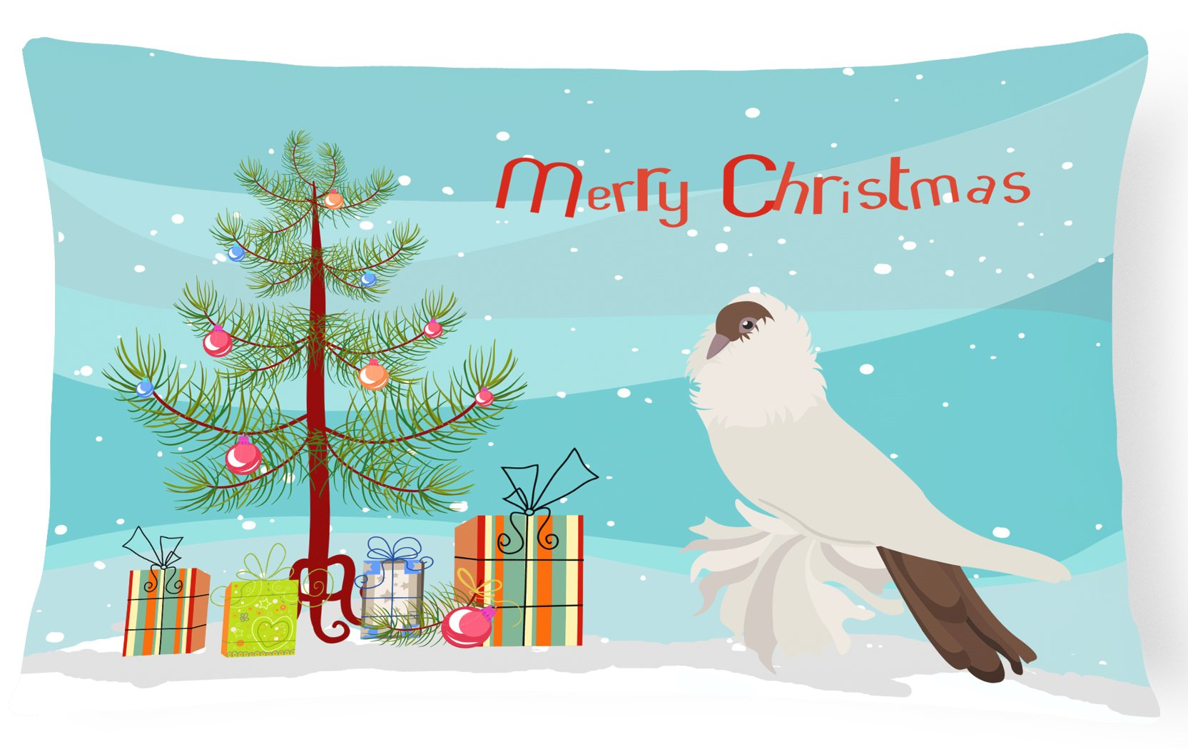 Buy this German Helmet Pigeon Christmas Canvas Fabric Decorative Pillow BB9311PW1216