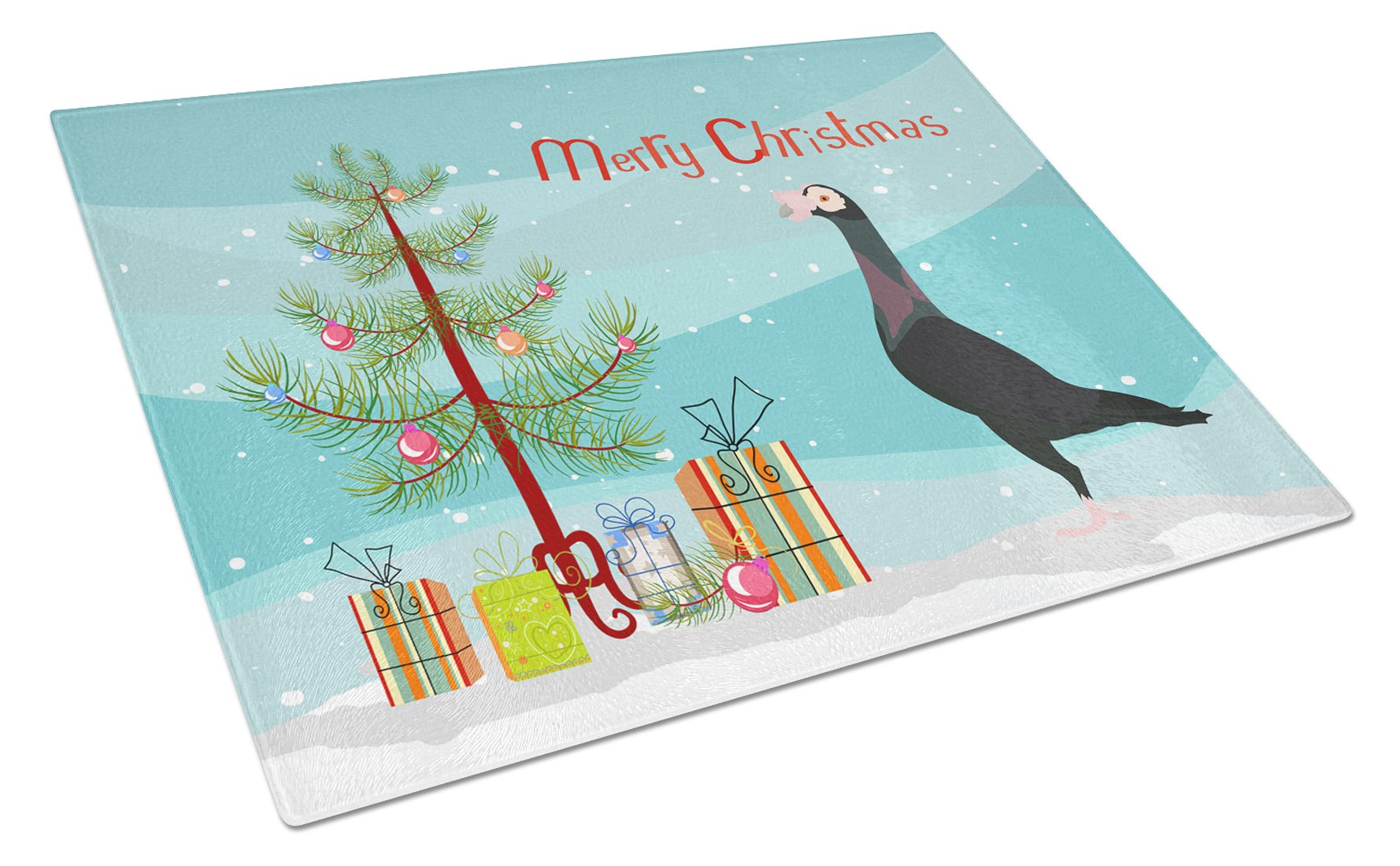 Buy this English Carrier Pigeon Christmas Glass Cutting Board Large BB9312LCB
