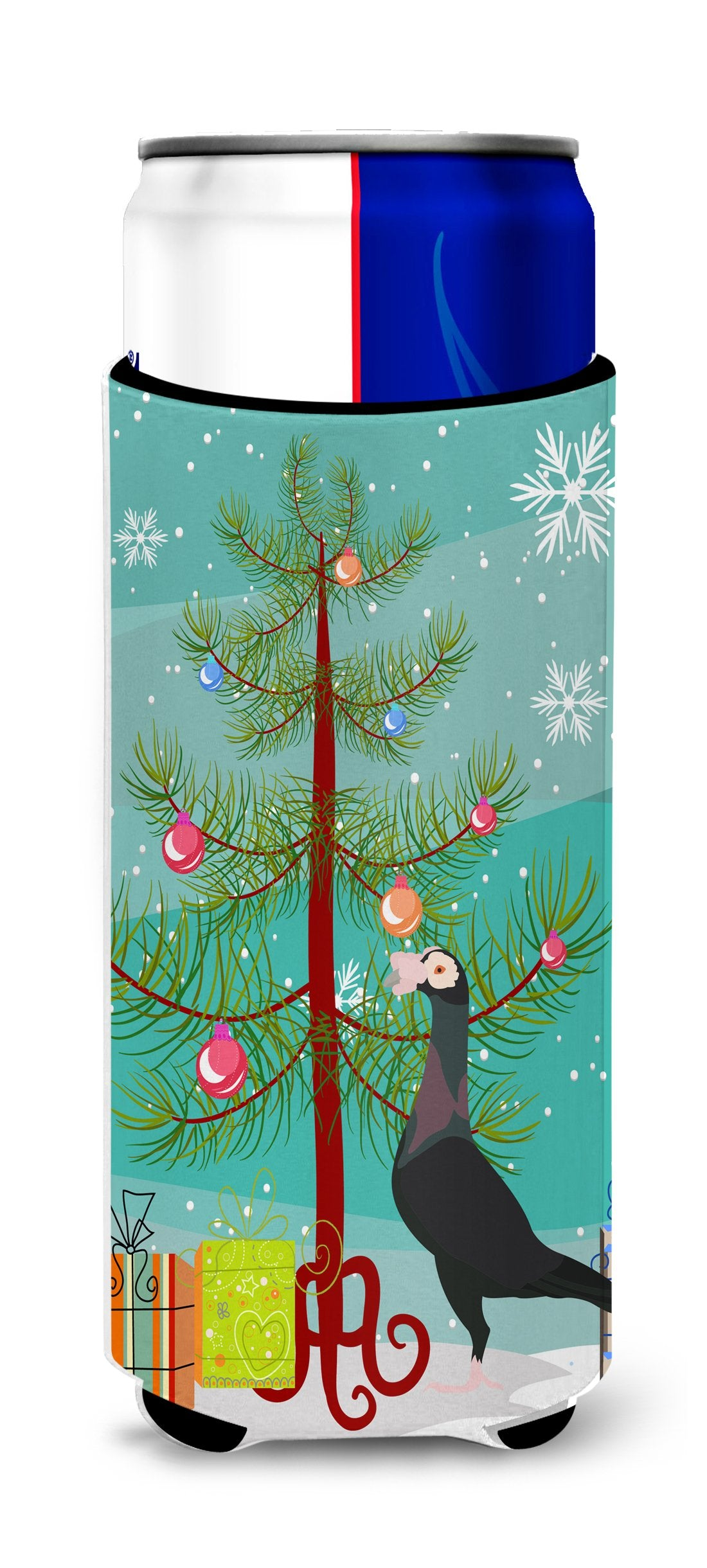 English Carrier Pigeon Christmas Michelob Ultra Hugger for slim cans BB9312MUK by Caroline's Treasures