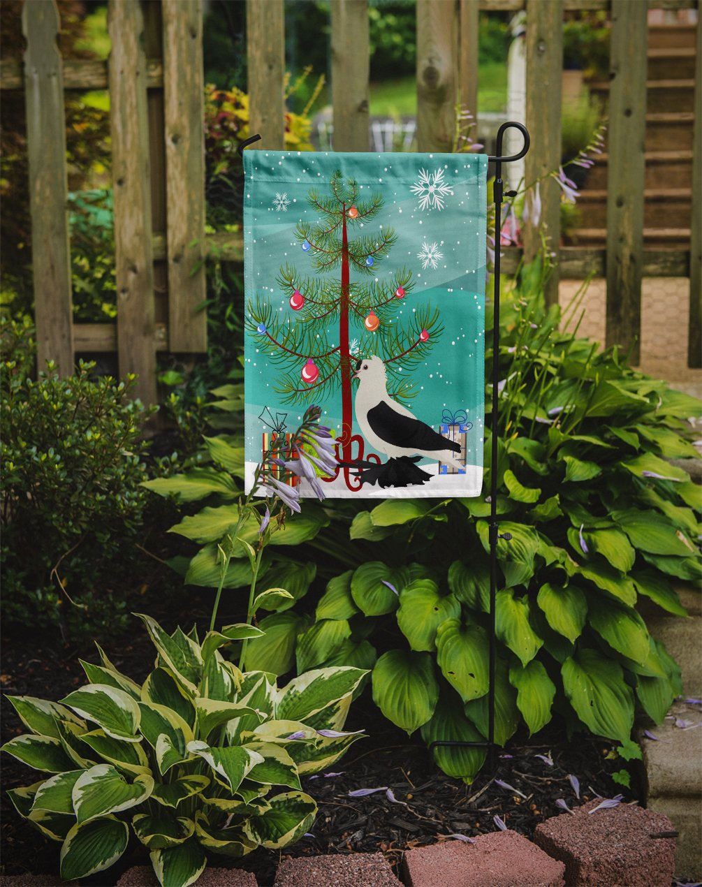Saxon Fairy Swallow Pigeon Christmas Flag Garden Size BB9313GF by Caroline's Treasures