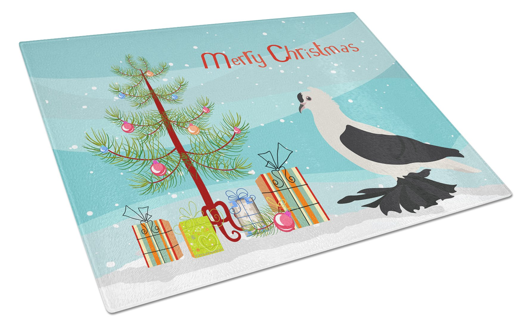 Buy this Saxon Fairy Swallow Pigeon Christmas Glass Cutting Board Large BB9313LCB