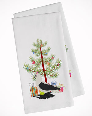 Buy this Saxon Fairy Swallow Pigeon Christmas White Kitchen Towel Set of 2 BB9313WTKT