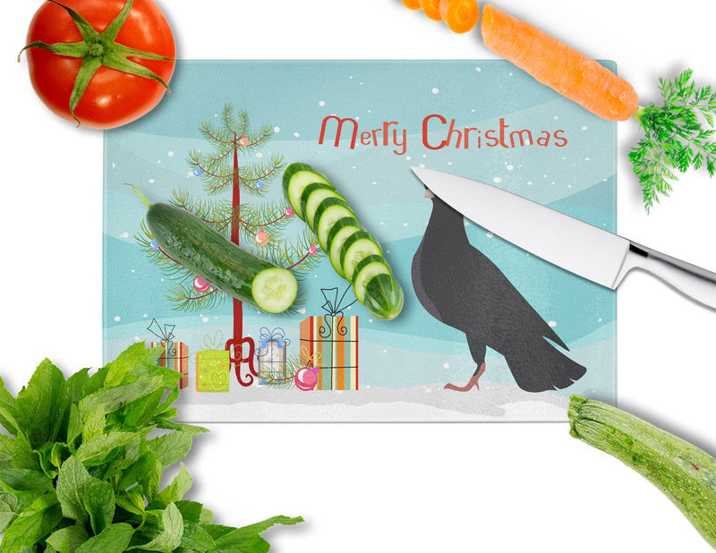 Buy this Budapest Highflyer Pigeon Christmas Glass Cutting Board Large BB9314LCB