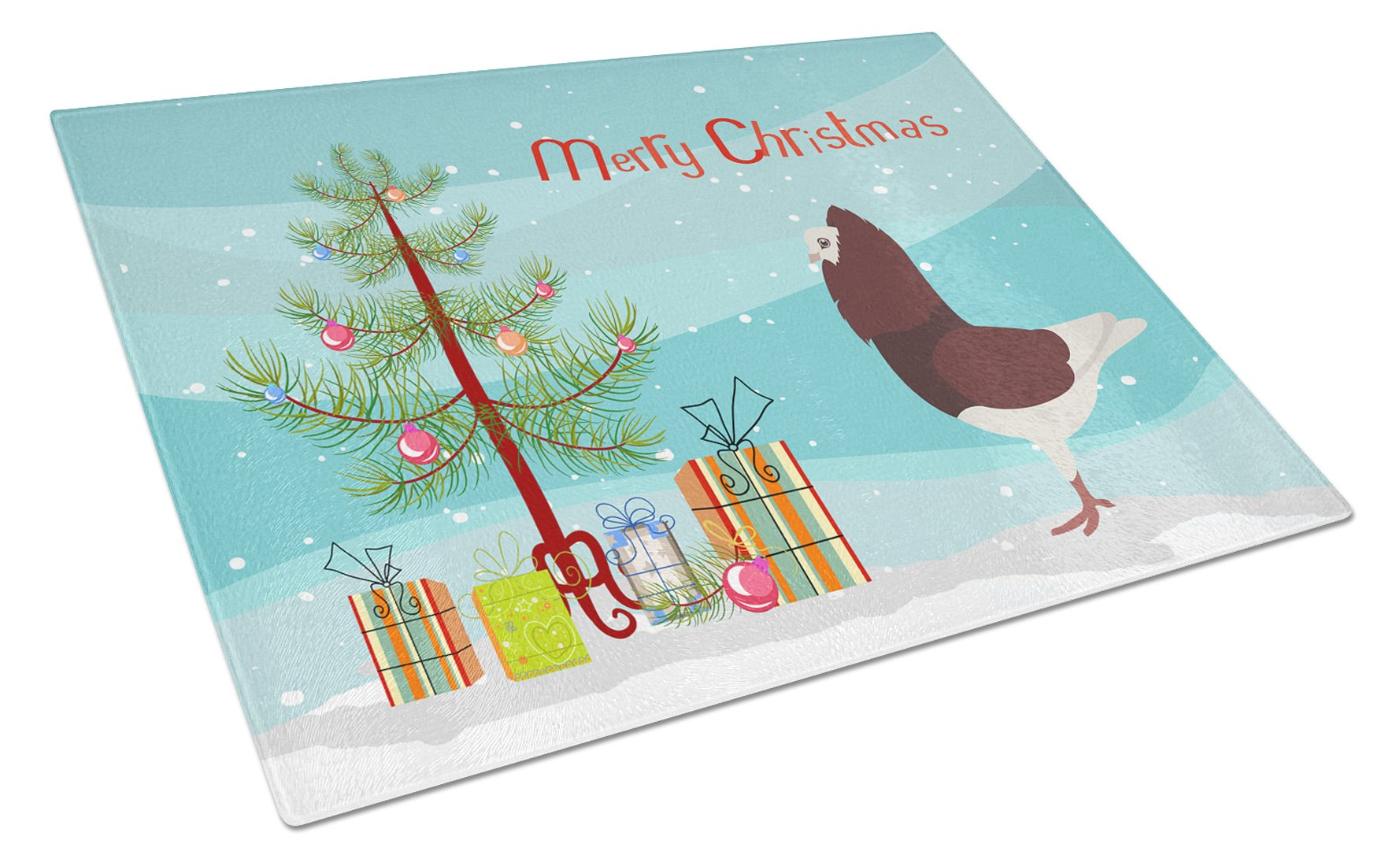 Buy this Capuchin Red Pigeon Christmas Glass Cutting Board Large BB9315LCB