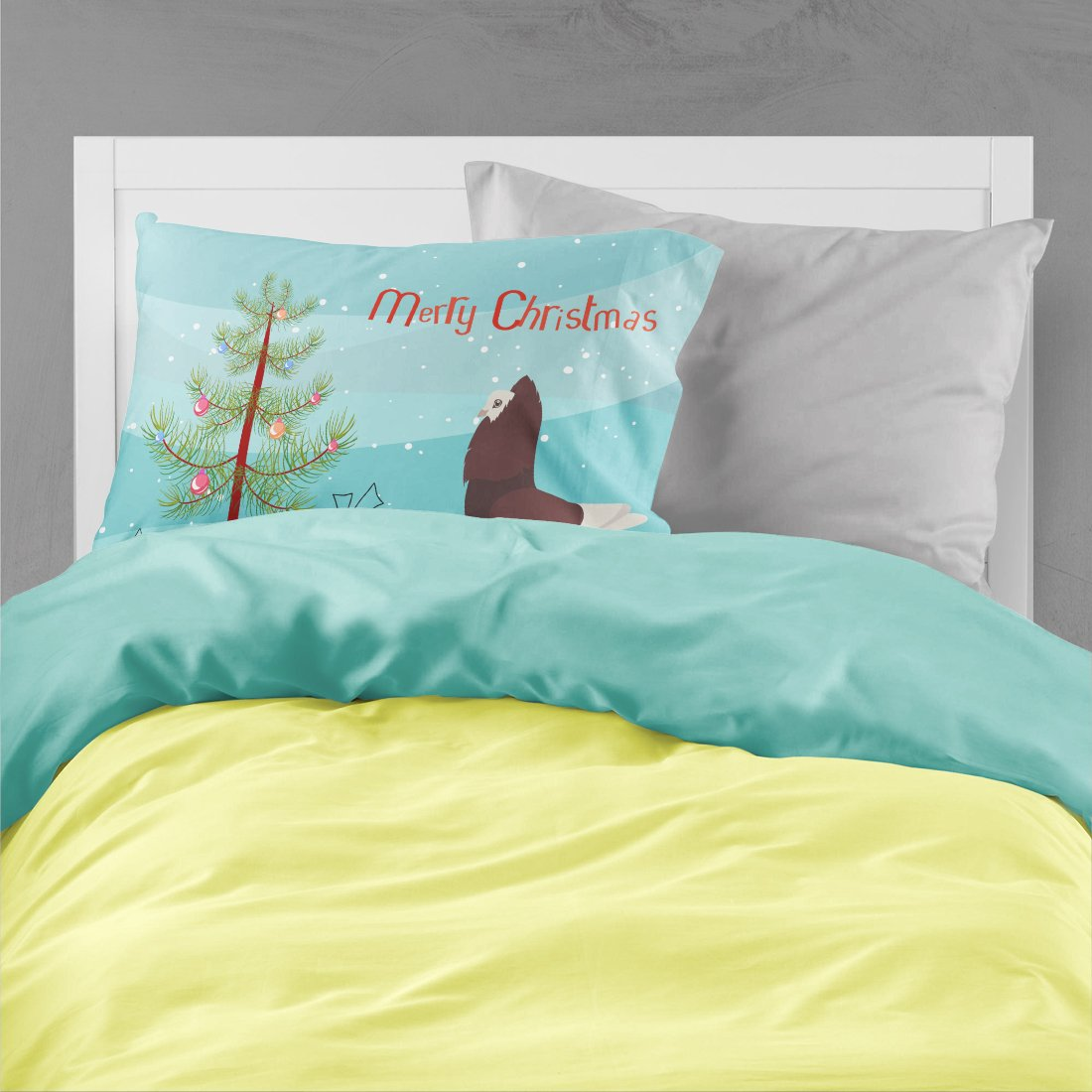 Capuchin Red Pigeon Christmas Fabric Standard Pillowcase BB9315PILLOWCASE by Caroline's Treasures
