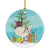 German Modena Pigeon Christmas Ceramic Ornament BB9316CO1 by Caroline's Treasures